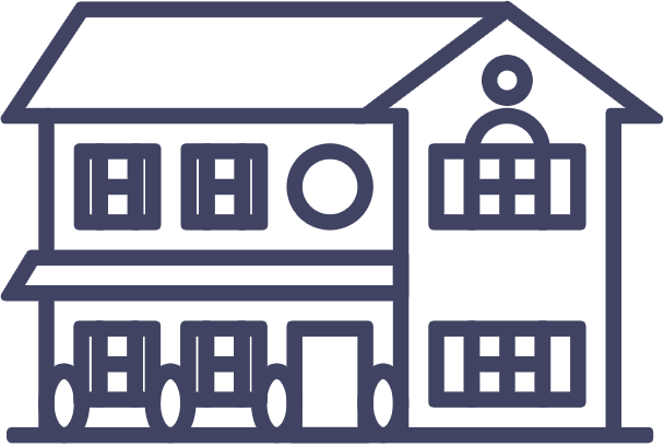 Multi and Single Family Homes Icon